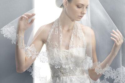 Elegantes tocados y velos de novia
