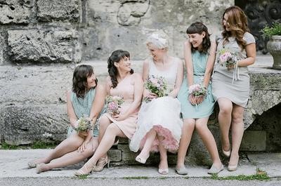 Cómo escoger los ramos para las damas de boda