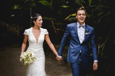 Casamento na praia de Beatrice & Flávio: linda decoração rústico chic no litoral de São Paulo!