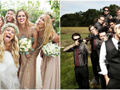 Fotos de casamento com madrinhas e padrinhos que NÃO podem faltar no seu álbum: divertidas e eternas!