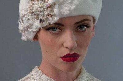 Exuberantes: chapéus para noivas Louise Green Millinerry