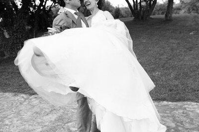 Siempre de moda: fotografías en blanco y negro para tu boda
