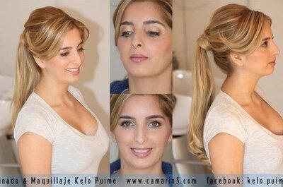 Cómo es una prueba de peinado y maquillaje de boda, por Kelo Puime