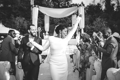 Georgia et Mauro : un sublime mariage mixte et une Garden Party en bord de Seine...