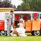 Una combi para auto de boda vintage