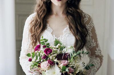 3 odsłony Panny Młodej: oblana fioletem, otulona czerwienią i zakochana w bieli!