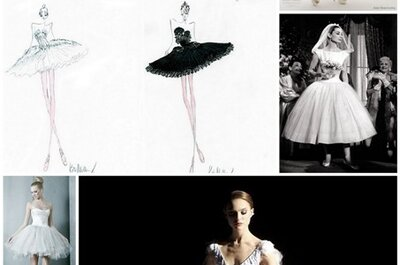 Wedding dresses inspired by Black Swan