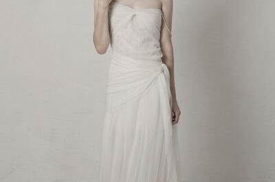 Vestidos de novia de Cortana 2015: la pureza de los tejidos nobles
