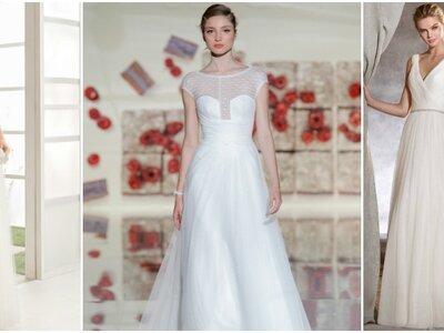 40 vestidos de noiva de linha A para 2017: um clássico de cortar a respiração!
