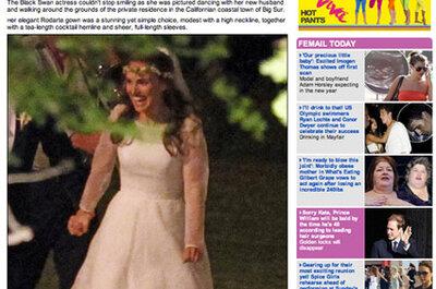 El vestido de novia de Natalie Portman