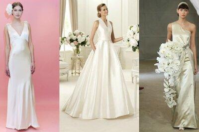 Raso: abiti da sposa,scarpe,lingerie e accessori nel tessuto più fluido e sensuale che c'è!