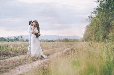 Un sí quiero preparado al detalle: la boda rústica de David y Victoria