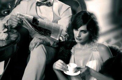 Feliz anos 20 no seu casamento