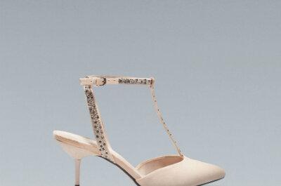 Zapatos para novia color nude de Zara 2013