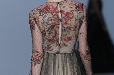 El toque surreal en los vestidos de fiesta 2015 de M&M: Un enfoque distinto al negro