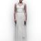 Vestido de novia 2013 con tirantes, corpiño con plisados, cinturón y falda con caída recta