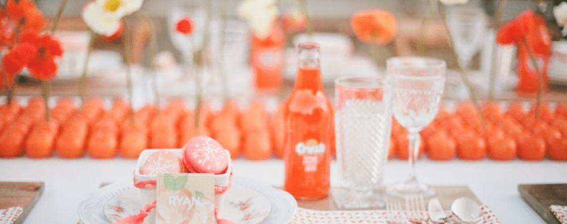 Real Inspiration: Una boda fantástica en naranja y colores cítricos, ¡vibrante!