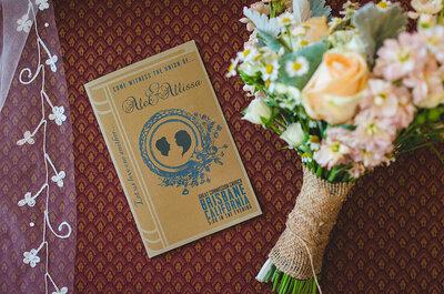 Tendencias 2014 para invitaciones según el estilo de la boda vintage
