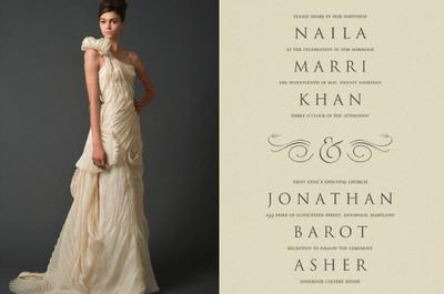 5 faire-parts inspirés des robes de mariée Vera Wang