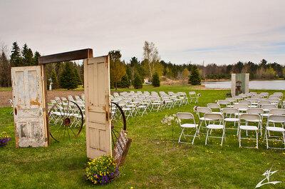 Ideas para una boda de estilo rústico y chic al aire libre