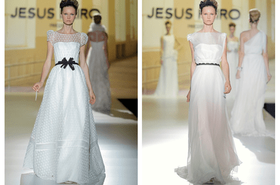 Jesús Peiró enamora con los vestidos de novia más románticos para la primavera 2014