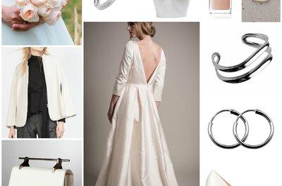 Look pour mariée minimaliste : une robe Au fil d'Élise et ses 10 accessoires