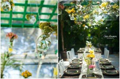 Rosa, verde e giallo: un delizioso Real Wedding multicolor dal Brazile con coraçao!