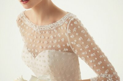 Свадебное платье с длинным рукавом. Загадочный образ невесты
