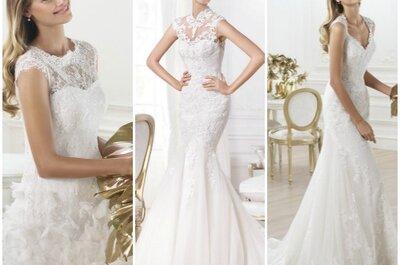 Sogni un abito da sposa in pizzo per il tuo sì? Scegli un Pronovias 2014!