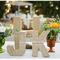 Decoración de boda con divertidas letras - Foto Ken Kienow