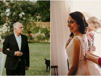 ¿Cómo se sienten los padres al ver a una hija vestida de novia?