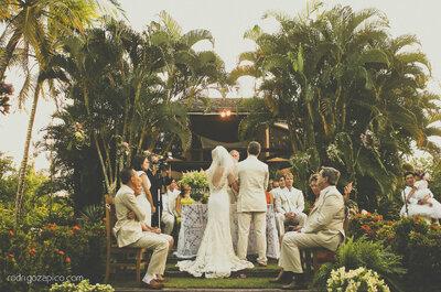 Cerimônia de um casamento de dia