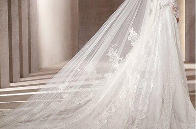 ¿Se ocupan los vestidos de novia con una larga cola?