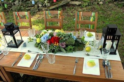 Cytryny i brzoskwinie w roli dekoracji na weselu