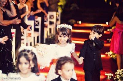 Daminhas e pajens roubam a cena nas cerimônias de casamento