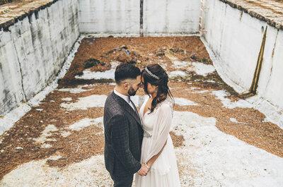 Una celebración de lo más rockera: la boda de Alfonso y Lorena