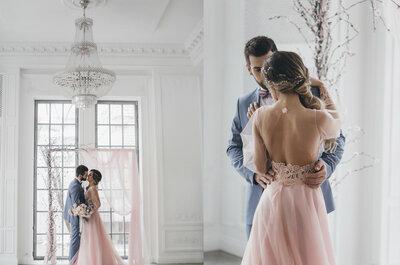 Сочетание Розовый Кварц и Безмятежность: стилизованная съемка Сергея и Ольги