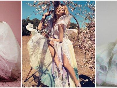 Vestidos de novia tie dye: Derroche perfecto de color