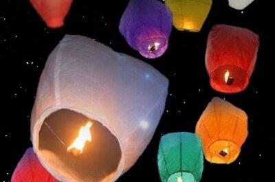 Lanternes de mariage volantes : effet magique et unique garanti !