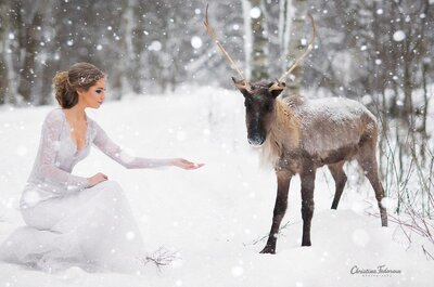 Зимний свадебный образ: тренды 2016 года