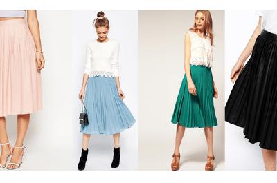 Cómo utilizar las faldas plisadas para tu look de invitada