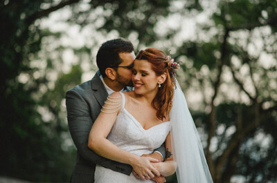 Casamento de Larissa & Luiz Gustavo: rústico-chic DIVINO aos pés do Redentor!