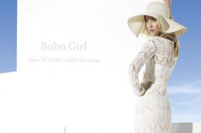 Panna młoda w stylu boho: suknie ślubne z kolekcji Yolan Cris 2014