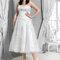Suknia ślubna Plus Size, do połowy łydki, Foto: Agnes 2015