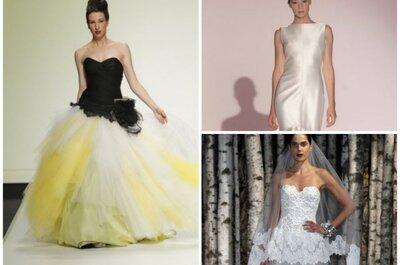 Sehen Sie hier originelle Brautkleider für 2015