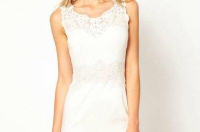 Modelos de vestidos brancos para casamento civil