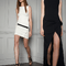 Vestidos de fiesta 2014 en color negro y blanco para una boda glamourosa