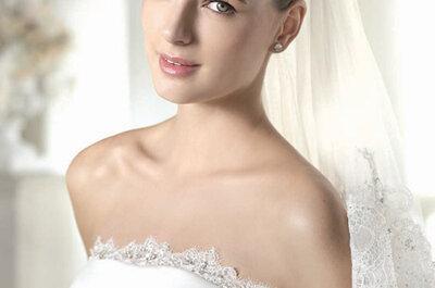 El escote palabra de honor de los vestidos de novia en manos de los mejores diseñadores
