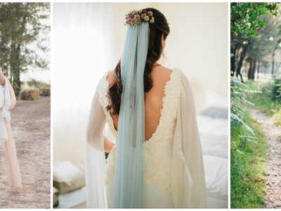 Unique Bridal Looks: Colored Wedding Veils