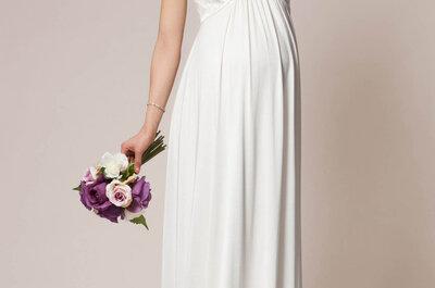 30 abiti per la sposa con pancione: per una dolce attesa glamour e chic!